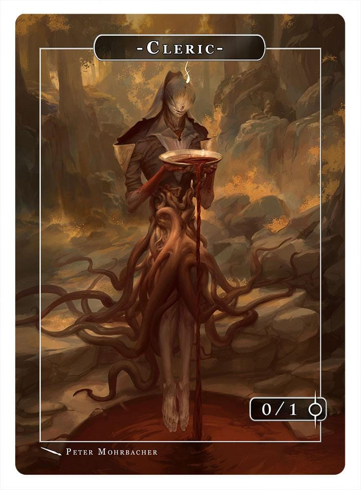 Cleric Token (0/1) by Peter Mohrbacher