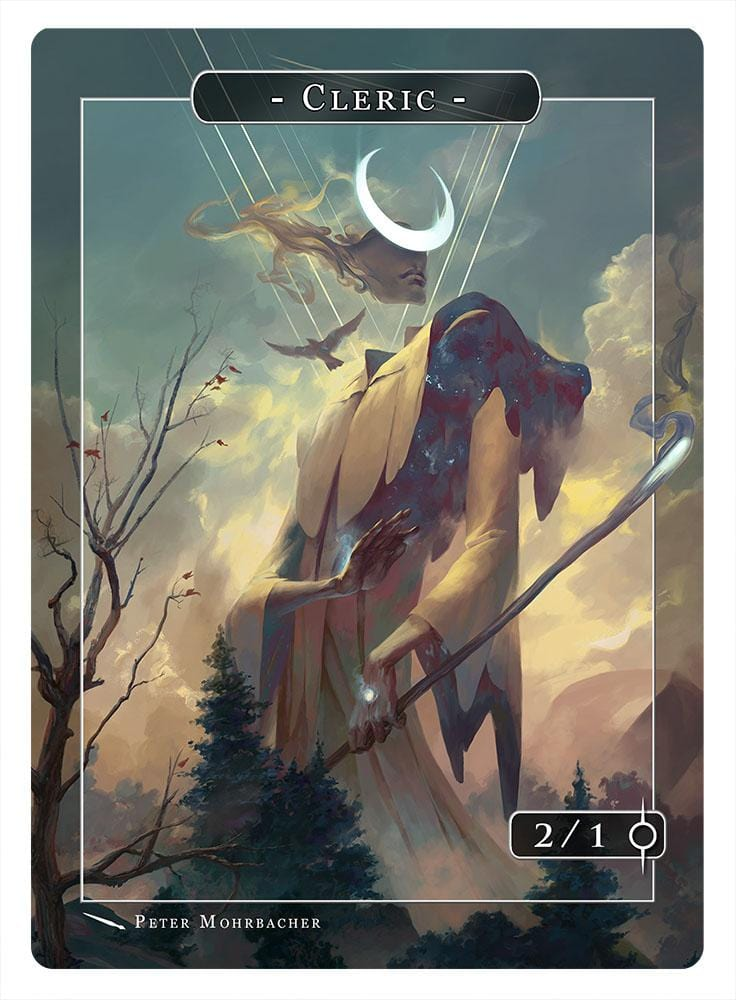 Cleric Token (2/1) by Peter Mohrbacher