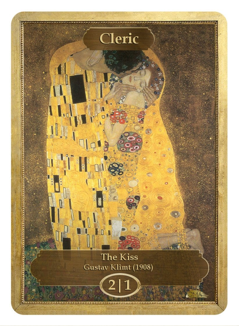Cleric Token (2/1) by Gustav Klimt