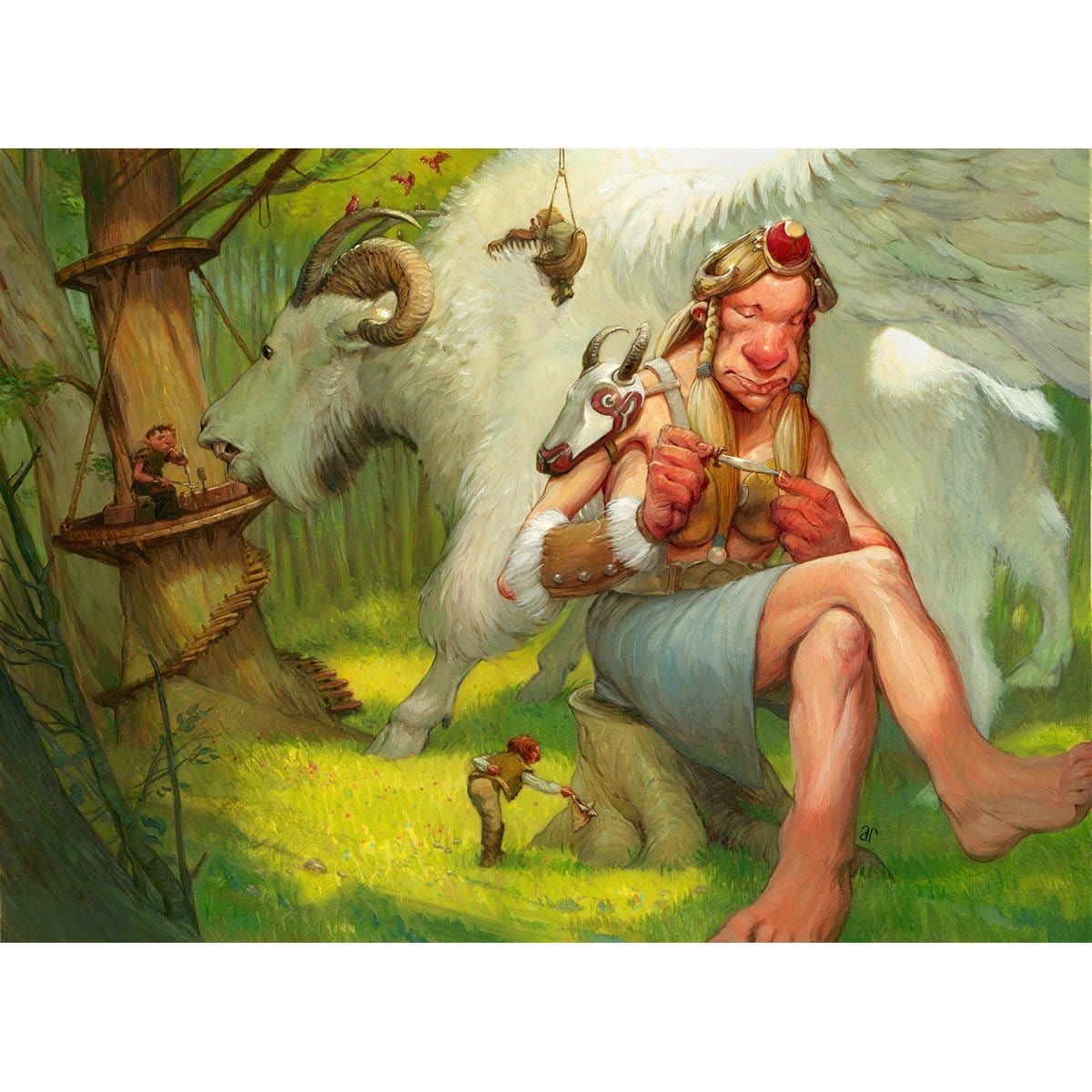Cloudgoat Ranger Print - Print - Original Magic Art - Accessories for Magic the Gathering and other card games