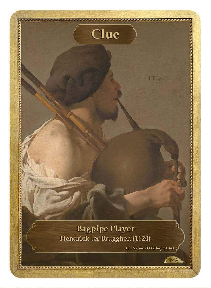Clue Token (Pipe) by Hendrick ter Brugghen - Token - Original Magic Art - Accessories for Magic the Gathering and other card games