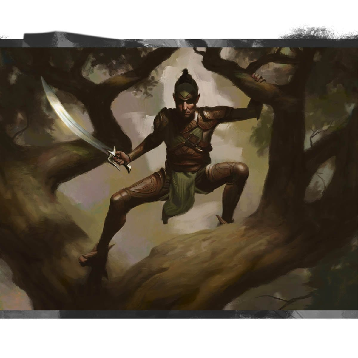 Treetop Warden Print - Print - Original Magic Art - Accessories for Magic the Gathering and other card games