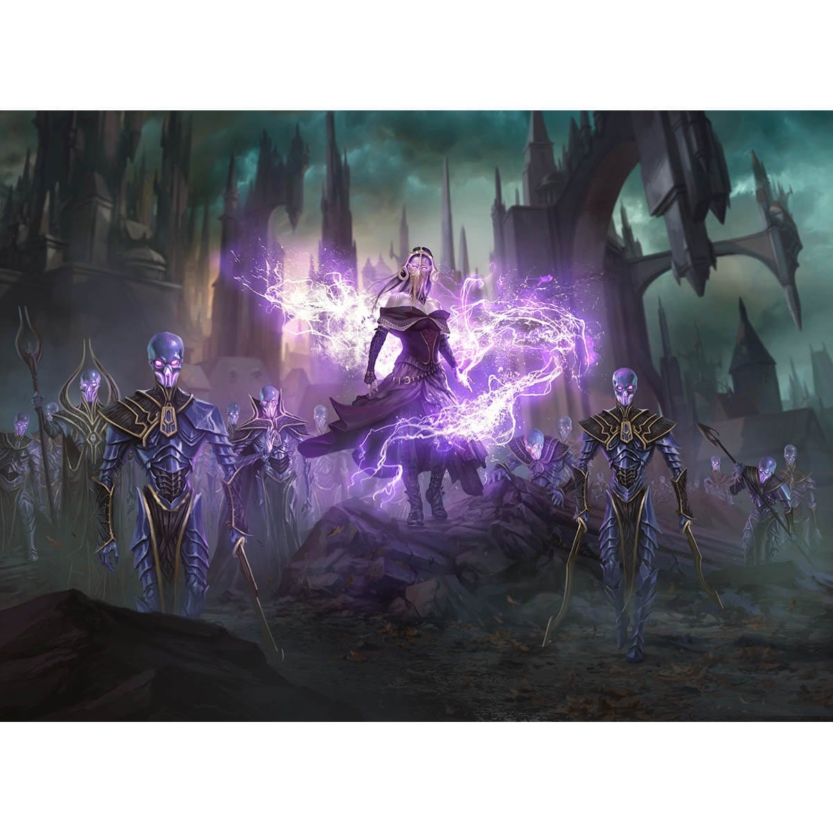 Command the Dreadhorde Print - Print - Original Magic Art - Accessories for Magic the Gathering and other card games