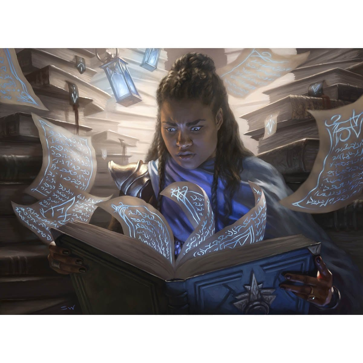 Compulsive Research Print - Print - Original Magic Art - Accessories for Magic the Gathering and other card games