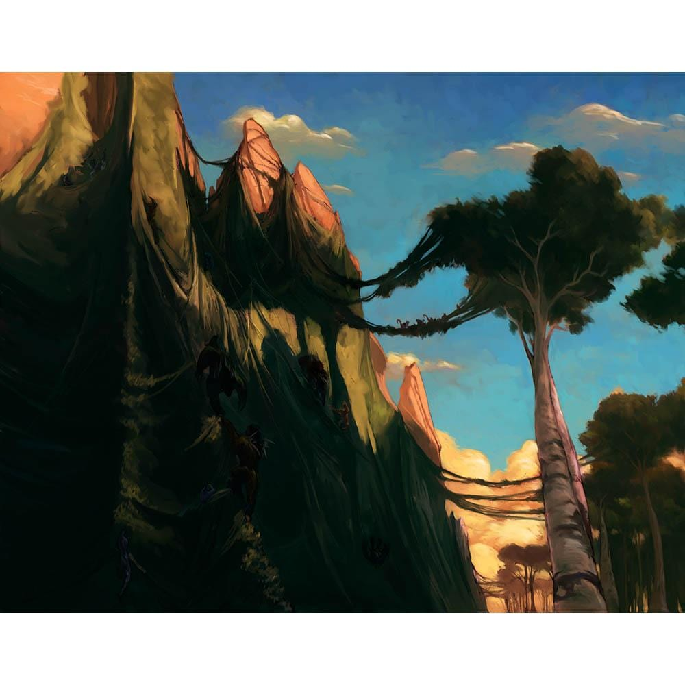 Contested Cliffs Print - Print - Original Magic Art - Accessories for Magic the Gathering and other card games