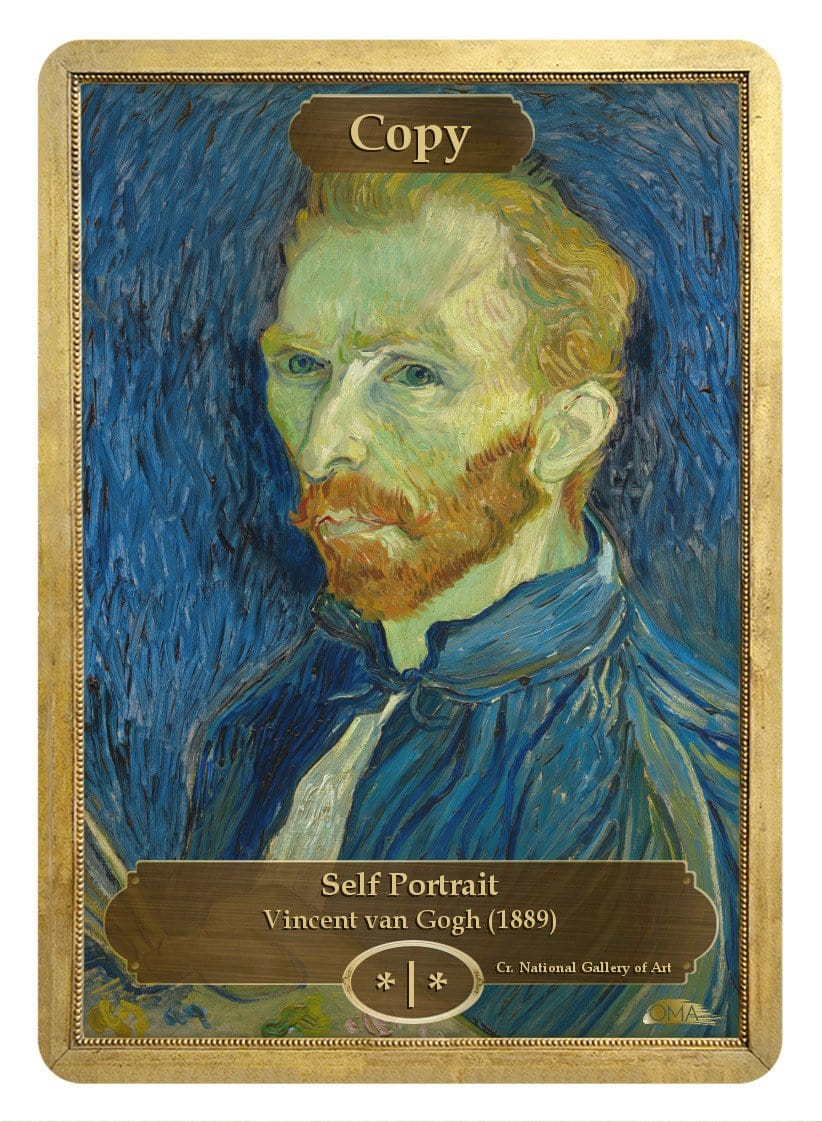Copy Token (*/*) by Vincent van Gogh - Token - Original Magic Art - Accessories for Magic the Gathering and other card games