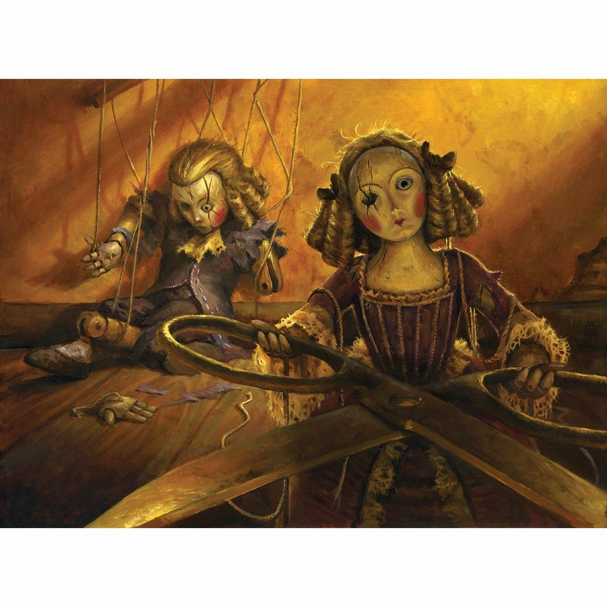 Creepy Doll Print - Print - Original Magic Art - Accessories for Magic the Gathering and other card games