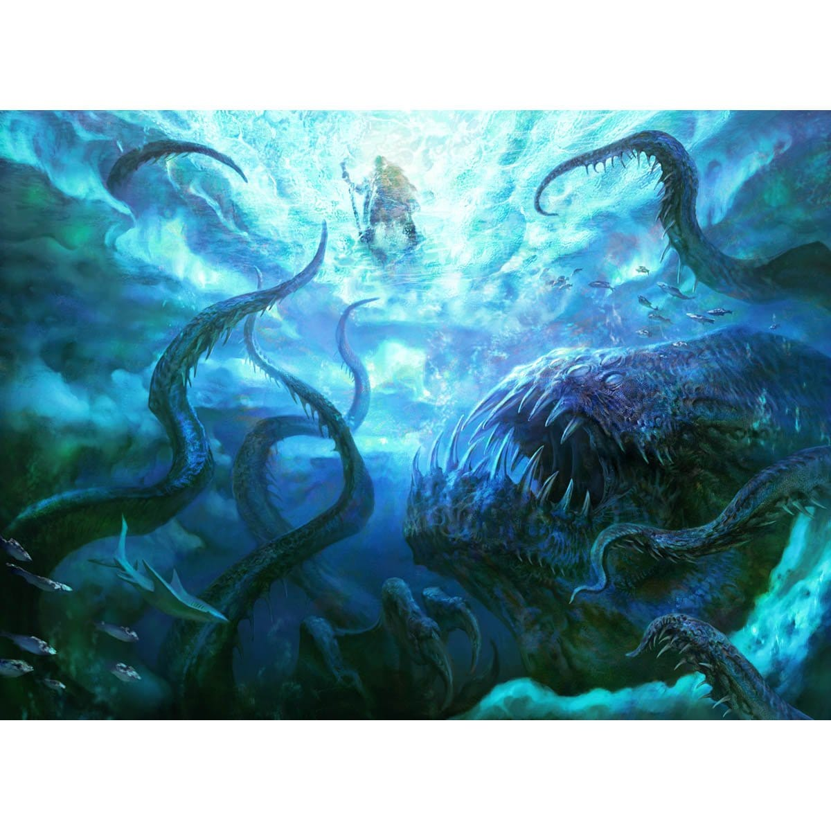 Dark Depths Print - Print - Original Magic Art - Accessories for Magic the Gathering and other card games