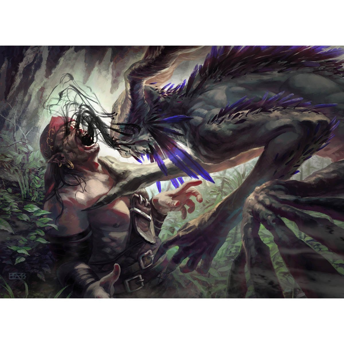 Dark Nourishment Print - Print - Original Magic Art - Accessories for Magic the Gathering and other card games