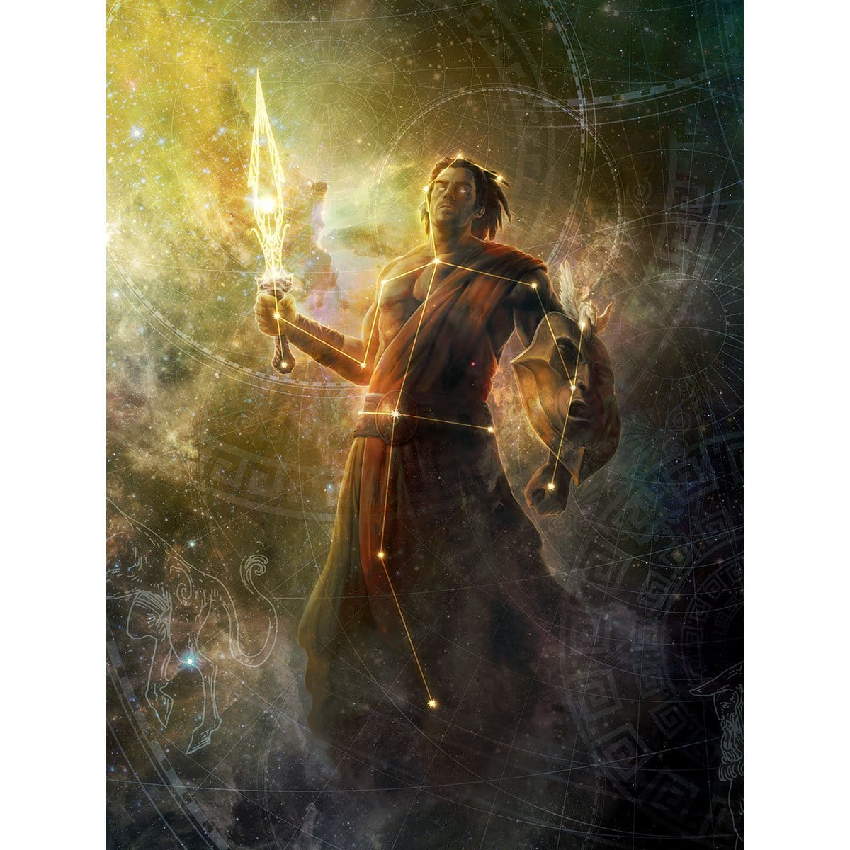 Daxos, Blessed by the Sun Print - Print - Original Magic Art - Accessories for Magic the Gathering and other card games