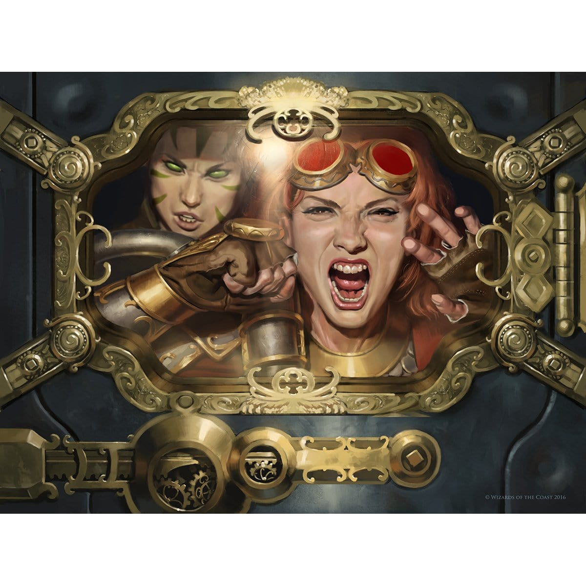 Deadlock Trap Print - Print - Original Magic Art - Accessories for Magic the Gathering and other card games