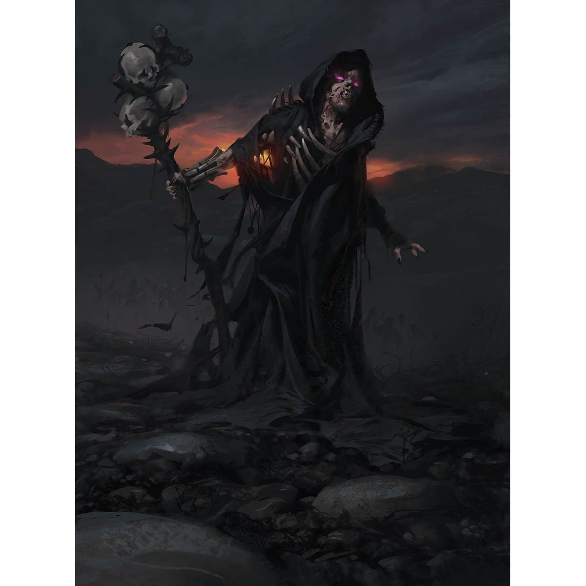 Death Baron Print - Print - Original Magic Art - Accessories for Magic the Gathering and other card games