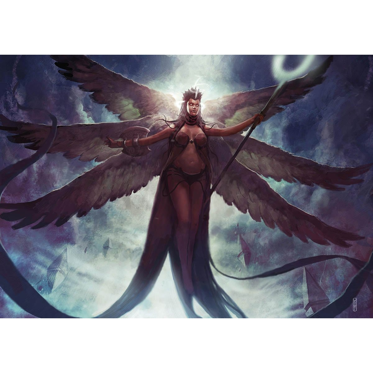 Deathless Angel Print - Print - Original Magic Art - Accessories for Magic the Gathering and other card games