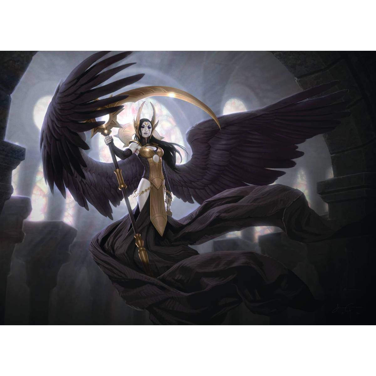 Deathpact Angel Print - Print - Original Magic Art - Accessories for Magic the Gathering and other card games