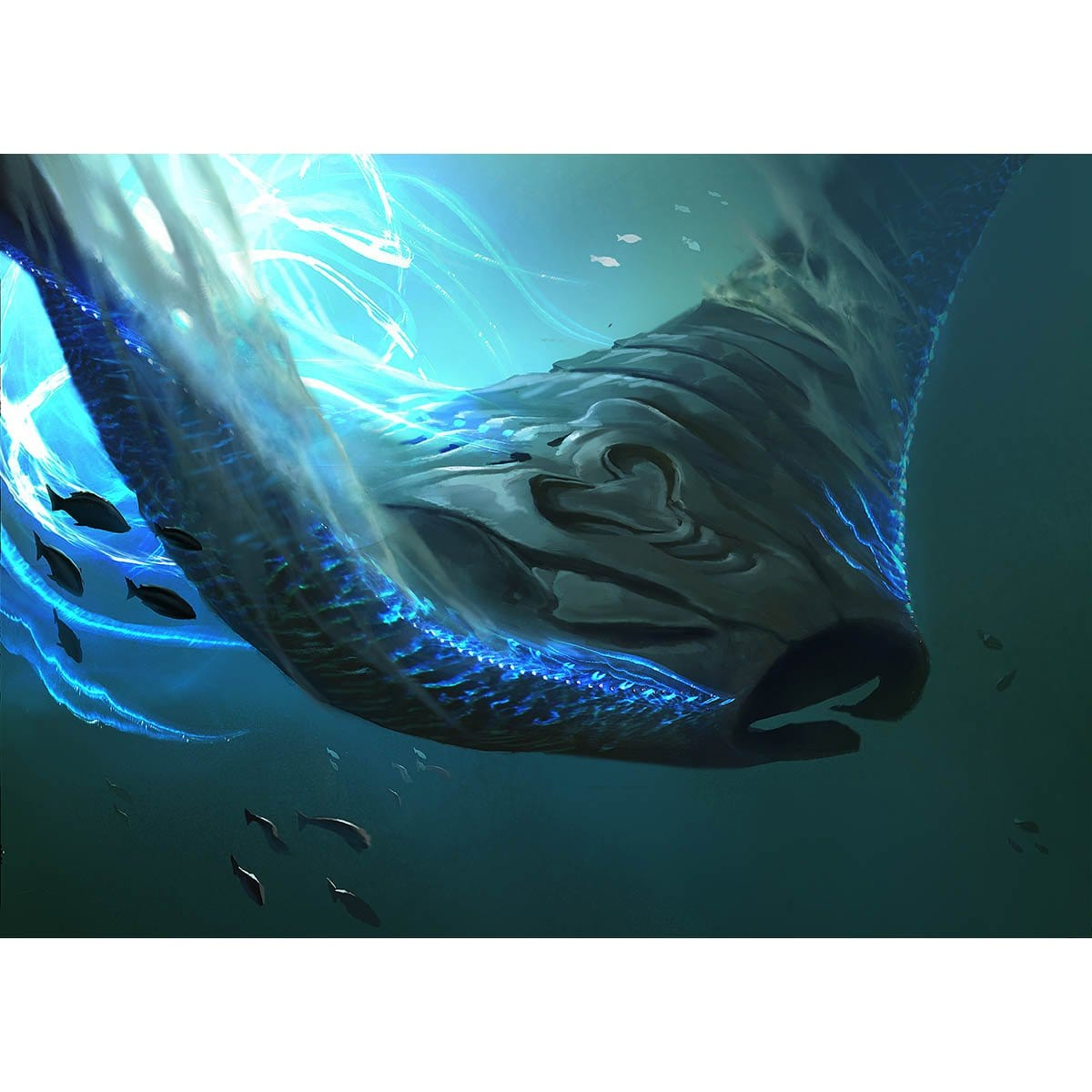 Deepglow Skate Print - Print - Original Magic Art - Accessories for Magic the Gathering and other card games