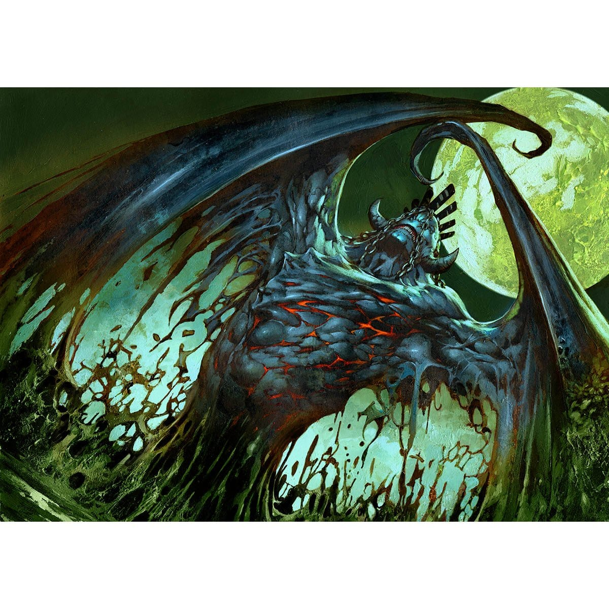 Demigod of Revenge Print - Print - Original Magic Art - Accessories for Magic the Gathering and other card games