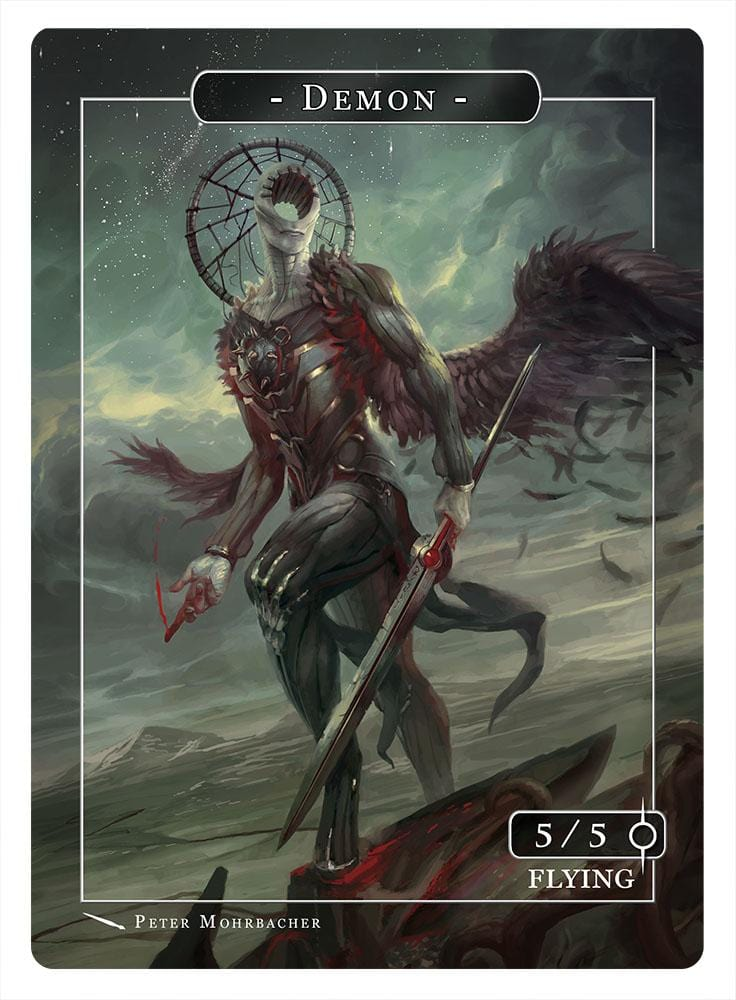 Demon Token (5/5 - Flying) by Peter Mohrbacher