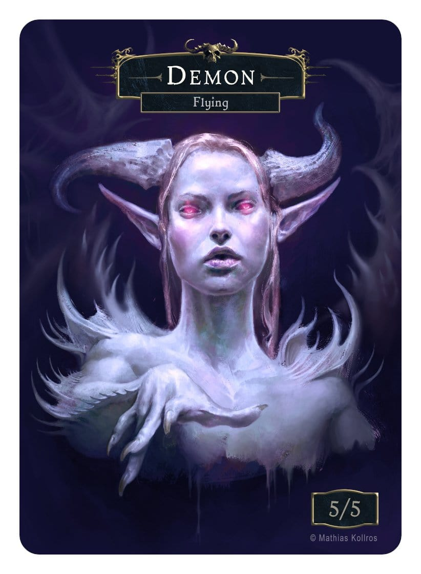 Demon Token (5/5 - Flying) by Mathias Kollros