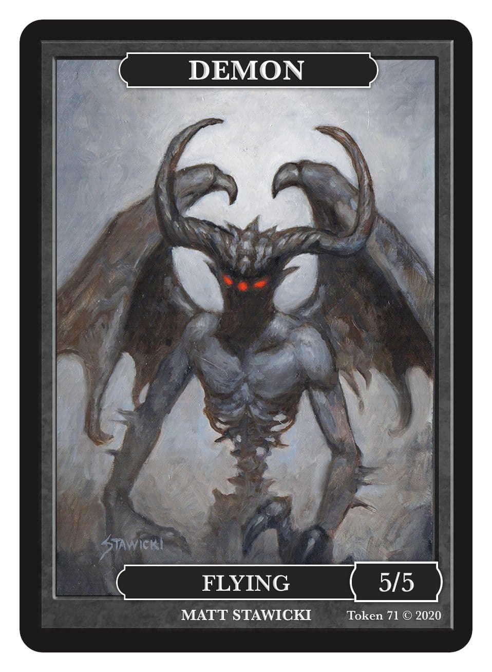 Demon Token (5/5 - Flying) by Matt Stawicki