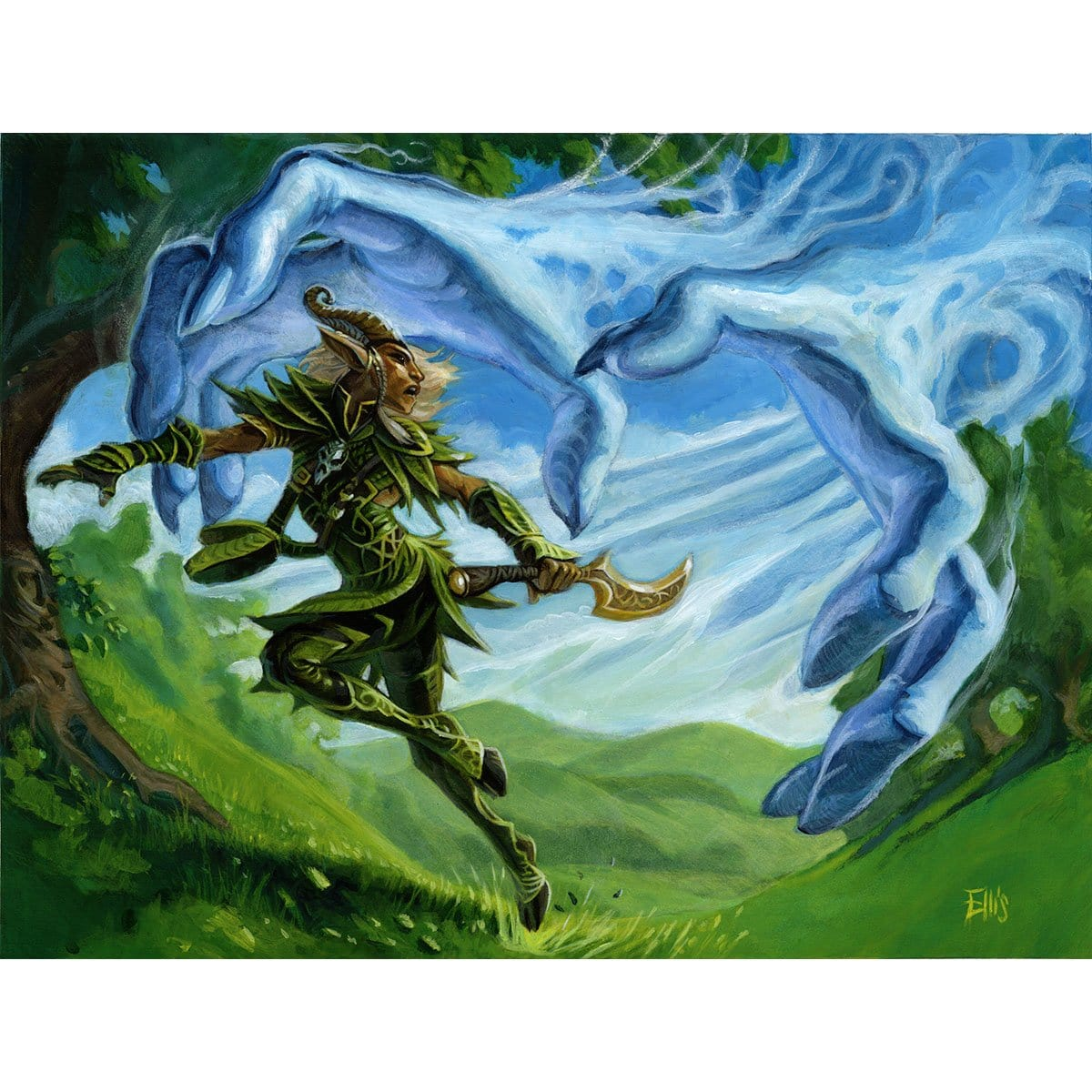 Disperse Print - Print - Original Magic Art - Accessories for Magic the Gathering and other card games