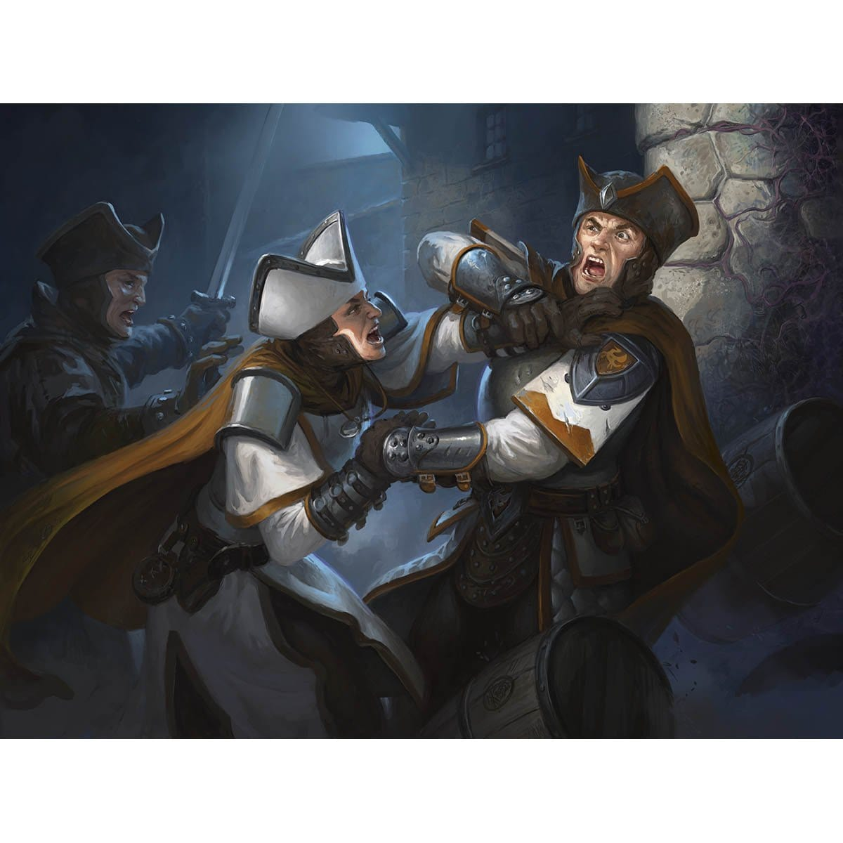 Dissension in the Ranks Print - Print - Original Magic Art - Accessories for Magic the Gathering and other card games