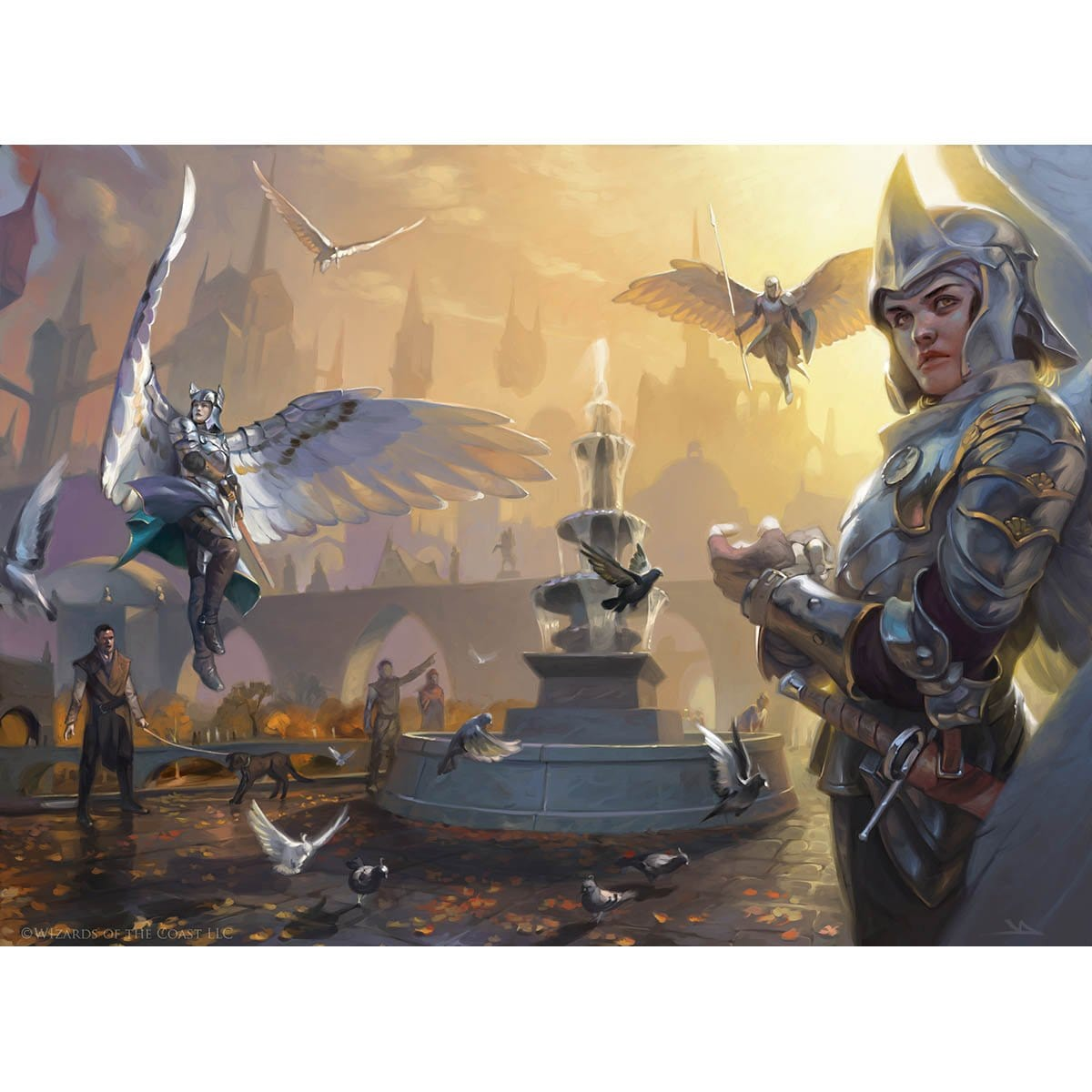 Divine Visitation Print - Print - Original Magic Art - Accessories for Magic the Gathering and other card games