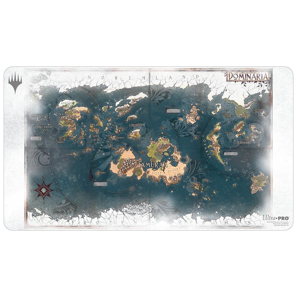 Dominaria Map Playmat - Playmat - Original Magic Art - Accessories for Magic the Gathering and other card games