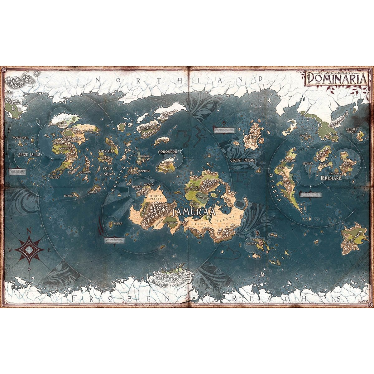 Dominaria Map Print - Print - Original Magic Art - Accessories for Magic the Gathering and other card games