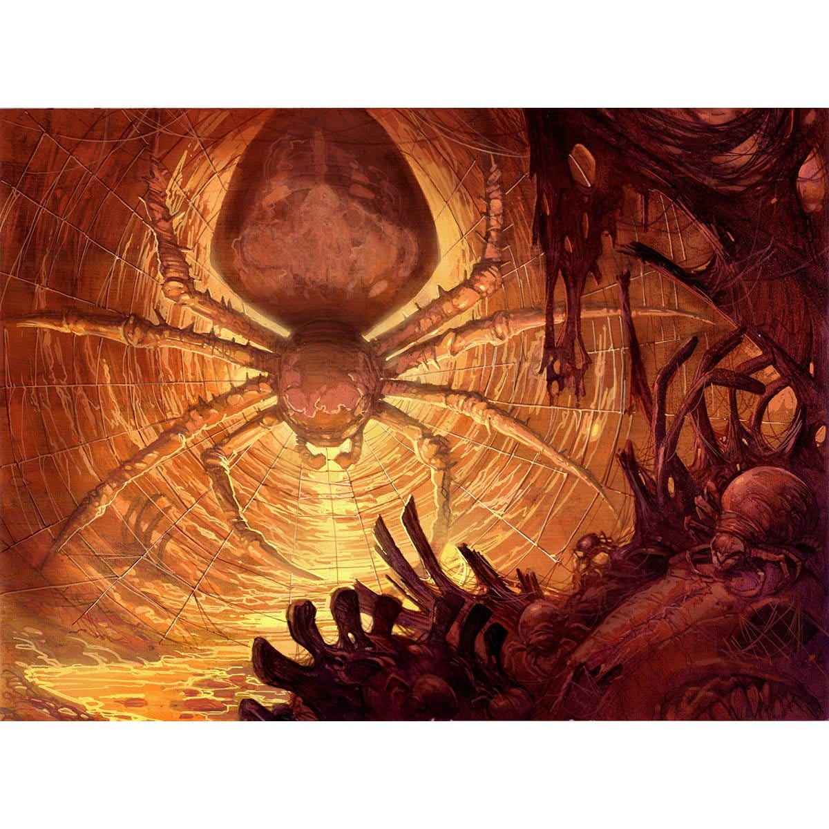 Dragonlair Spider Print - Print - Original Magic Art - Accessories for Magic the Gathering and other card games