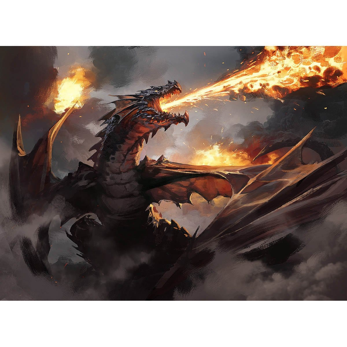 Drakuseth, Maw of Flames Print - Print - Original Magic Art - Accessories for Magic the Gathering and other card games