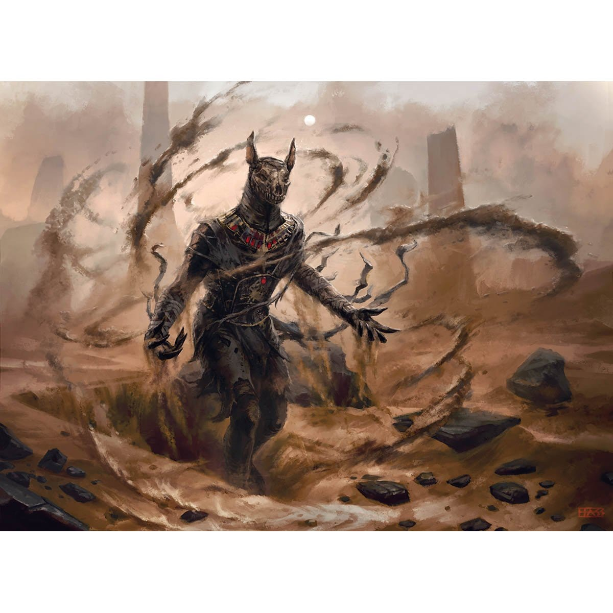 Dread Wanderer Print - Print - Original Magic Art - Accessories for Magic the Gathering and other card games