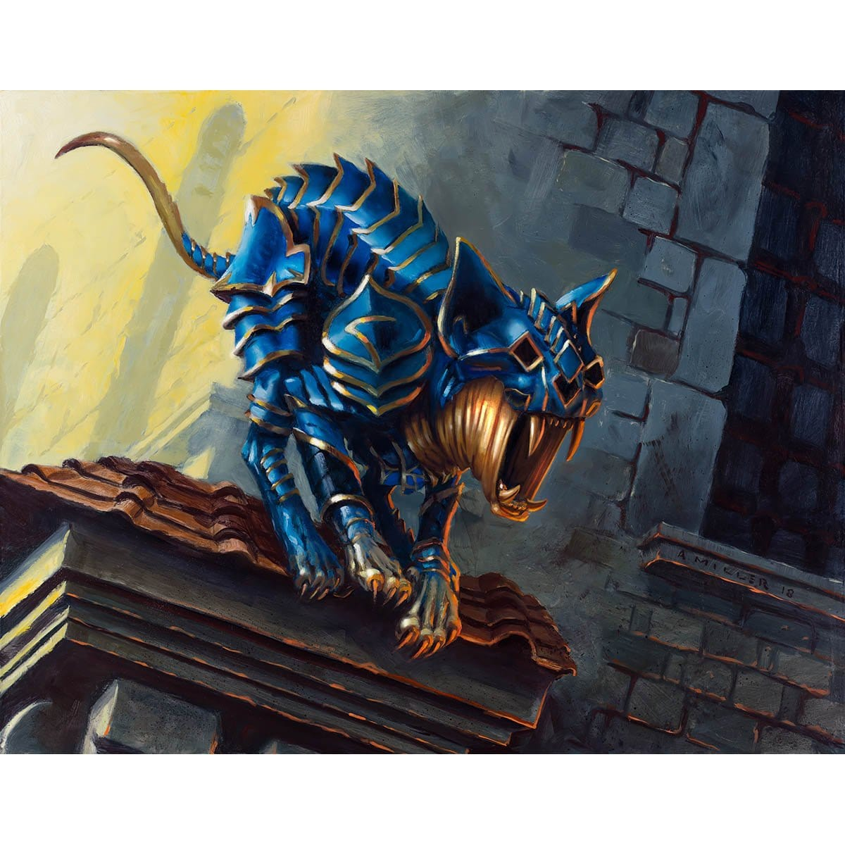 Dreadmalkin Print - Print - Original Magic Art - Accessories for Magic the Gathering and other card games