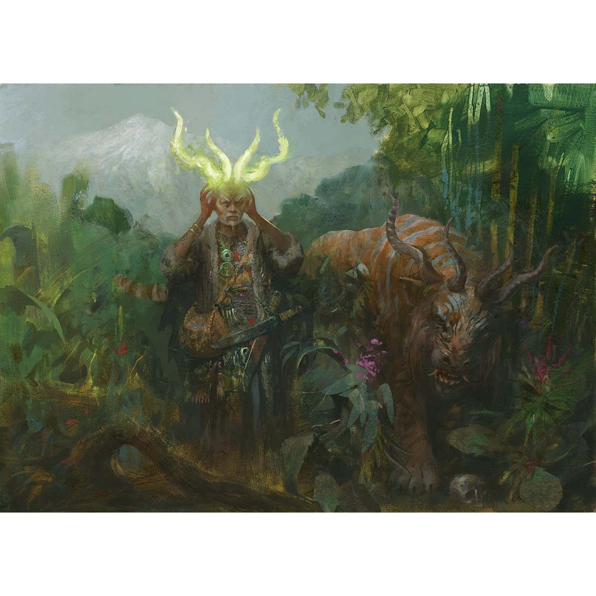 Druid of Horns Print - Print - Original Magic Art - Accessories for Magic the Gathering and other card games