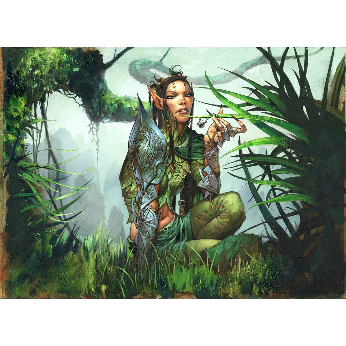 Druid of the Anima Print - Print - Original Magic Art - Accessories for Magic the Gathering and other card games