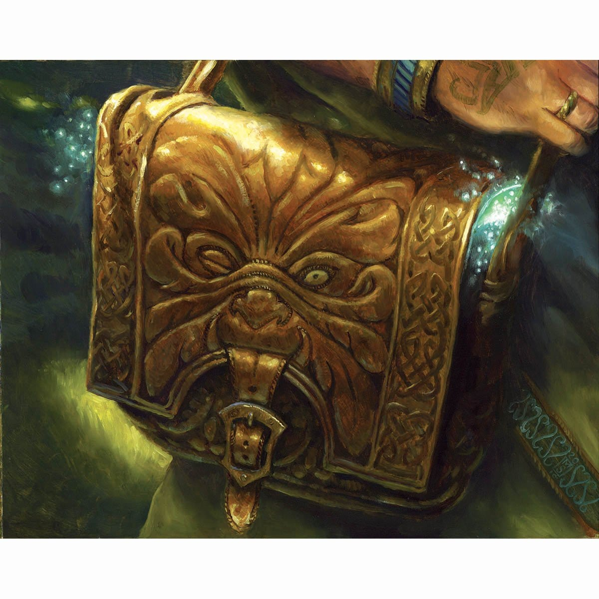 Druidic Satchel Print - Print - Original Magic Art - Accessories for Magic the Gathering and other card games
