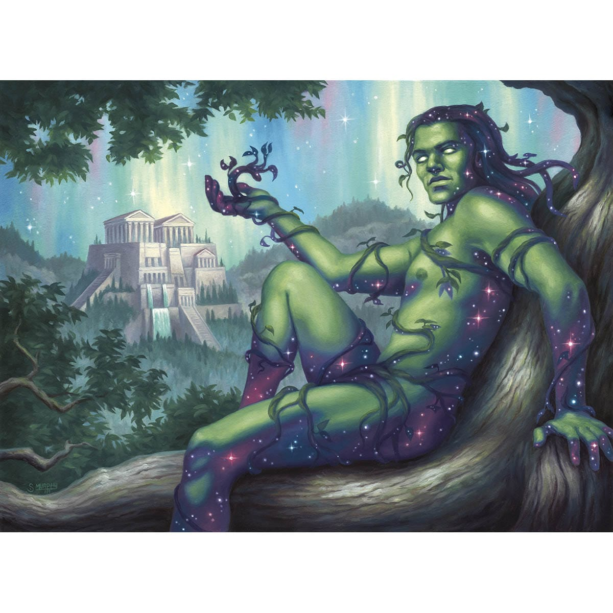 Dryad of the Ilysian Grove Print - Print - Original Magic Art - Accessories for Magic the Gathering and other card games