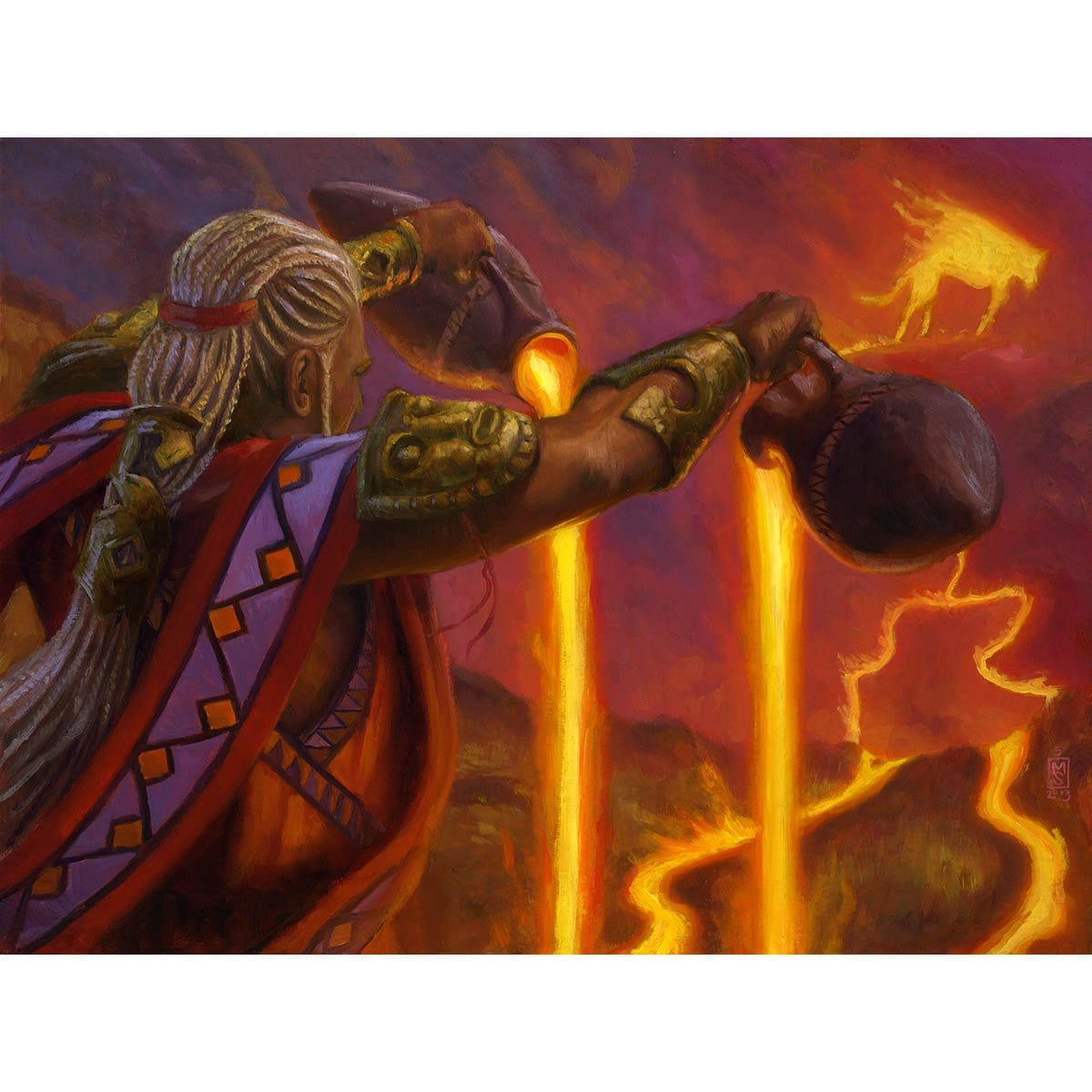 Dualcaster Mage Print - Print - Original Magic Art - Accessories for Magic the Gathering and other card games