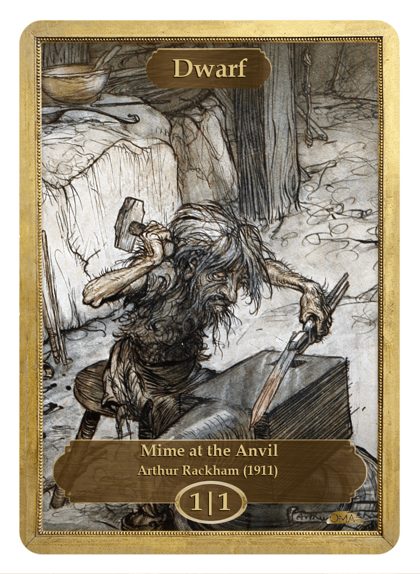 Dwarf Token (1/1) by Arthur Rackham - Token - Original Magic Art - Accessories for Magic the Gathering and other card games