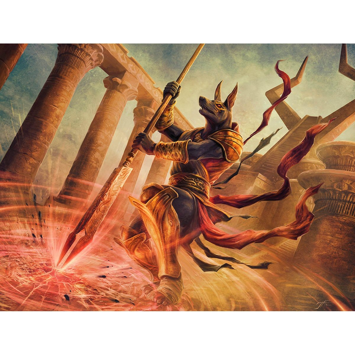 Earthshaker Khenra Print - Print - Original Magic Art - Accessories for Magic the Gathering and other card games