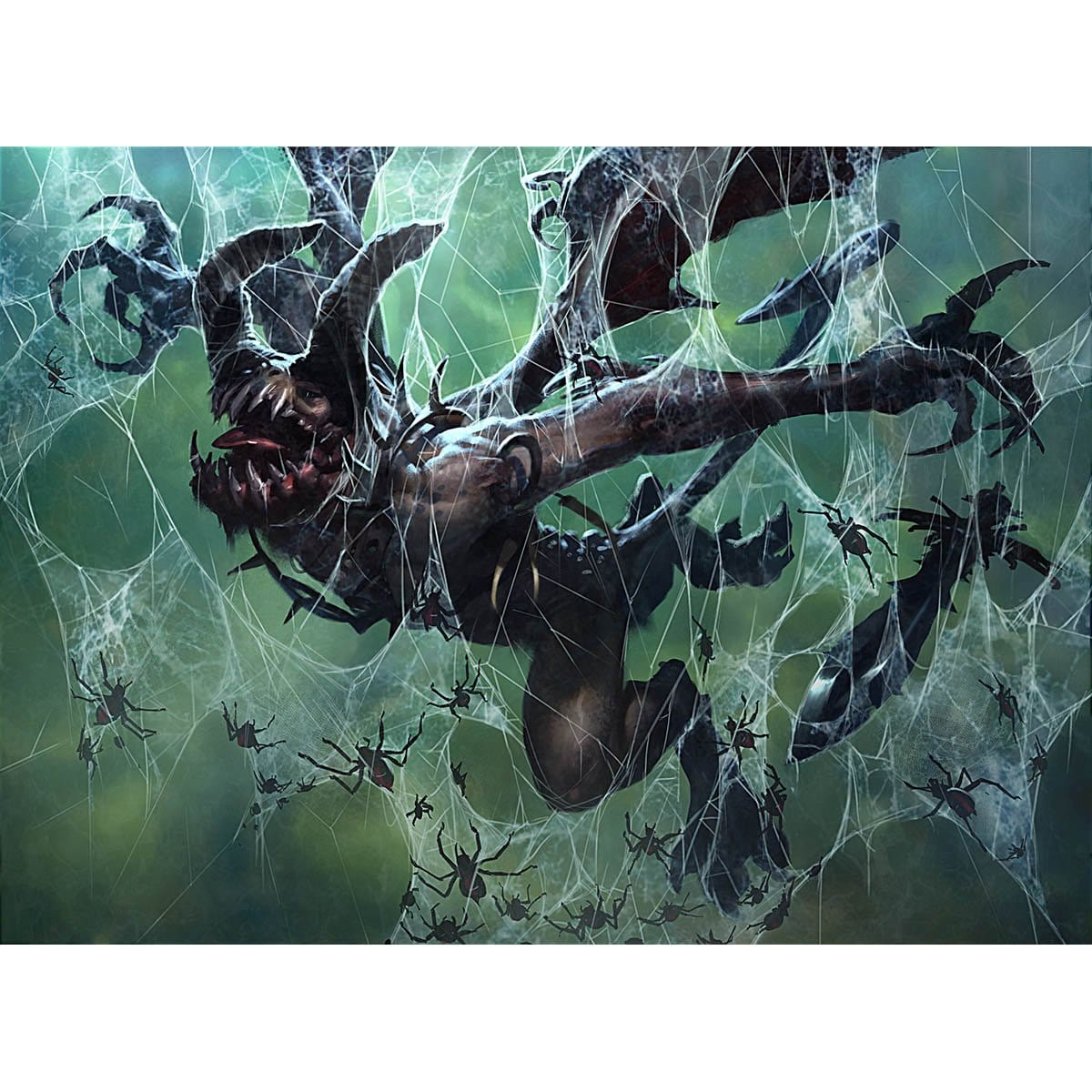 Eaten by Spiders Print - Print - Original Magic Art - Accessories for Magic the Gathering and other card games