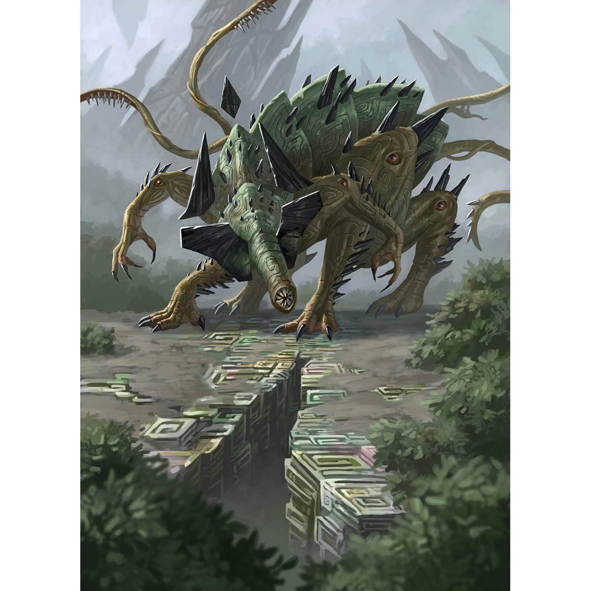 Eldrazi Mimic Print - Print - Original Magic Art - Accessories for Magic the Gathering and other card games