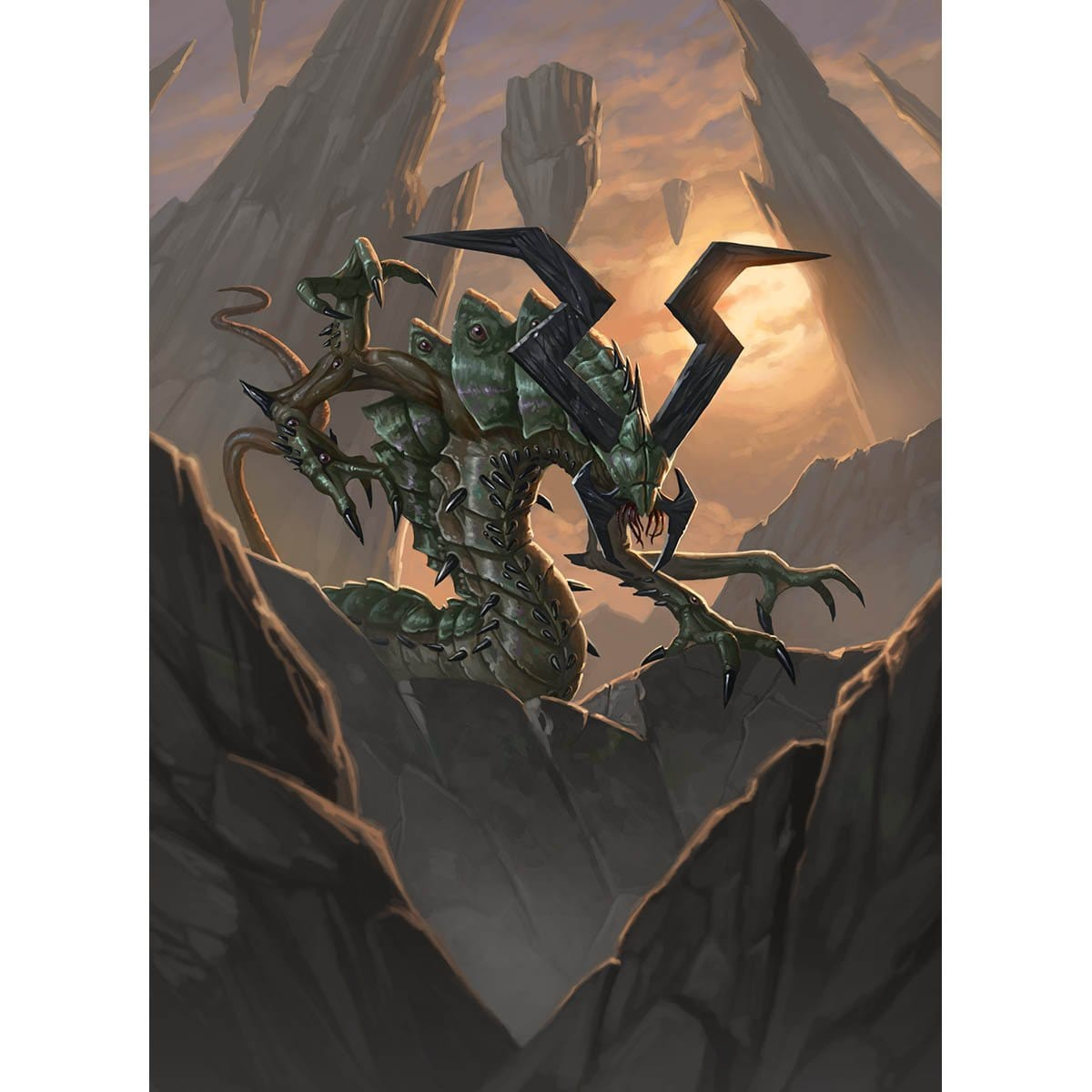 Eldrazi Scion Token Print - Print - Original Magic Art - Accessories for Magic the Gathering and other card games