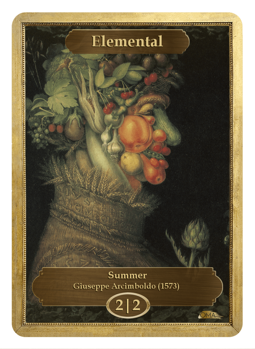 Elemental Token (2/2) by Giuseppe Arcimboldo - Token - Original Magic Art - Accessories for Magic the Gathering and other card games