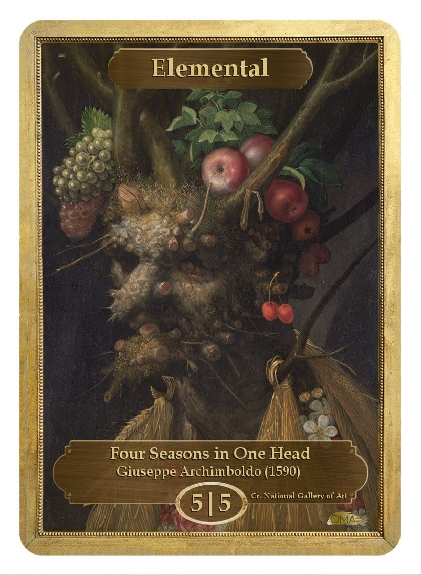 Elemental Token (5/5) by Giuseppe Arcimboldo - Token - Original Magic Art - Accessories for Magic the Gathering and other card games