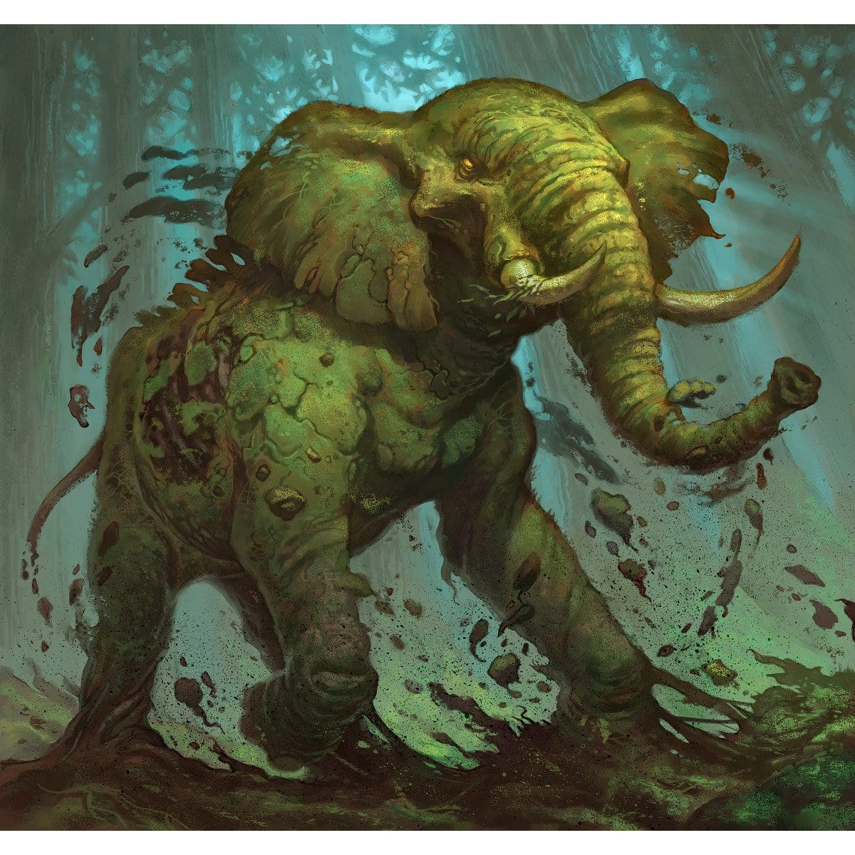 Elephant Token Print - Print - Original Magic Art - Accessories for Magic the Gathering and other card games