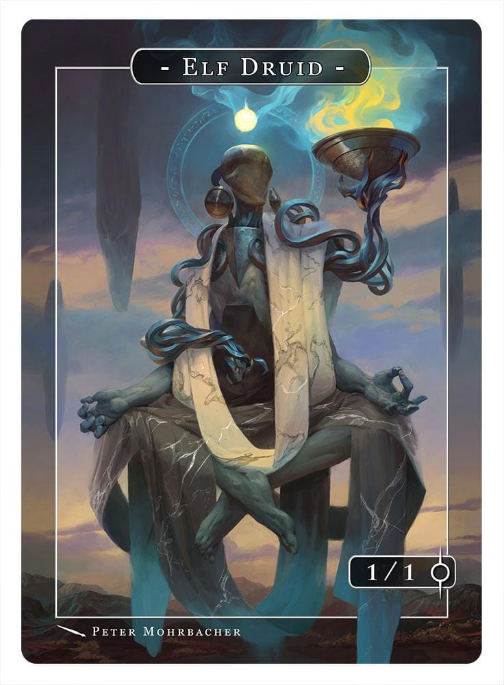 Elf Druid Token (1/1) by Peter Mohrbacher