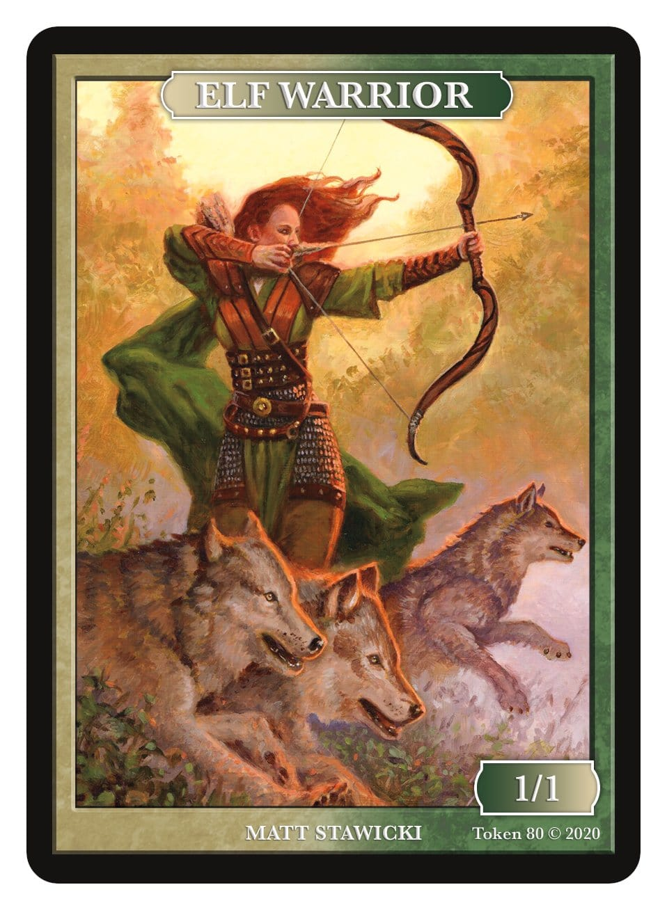 Elf Warrior Token (1/1) by Matt Stawicki