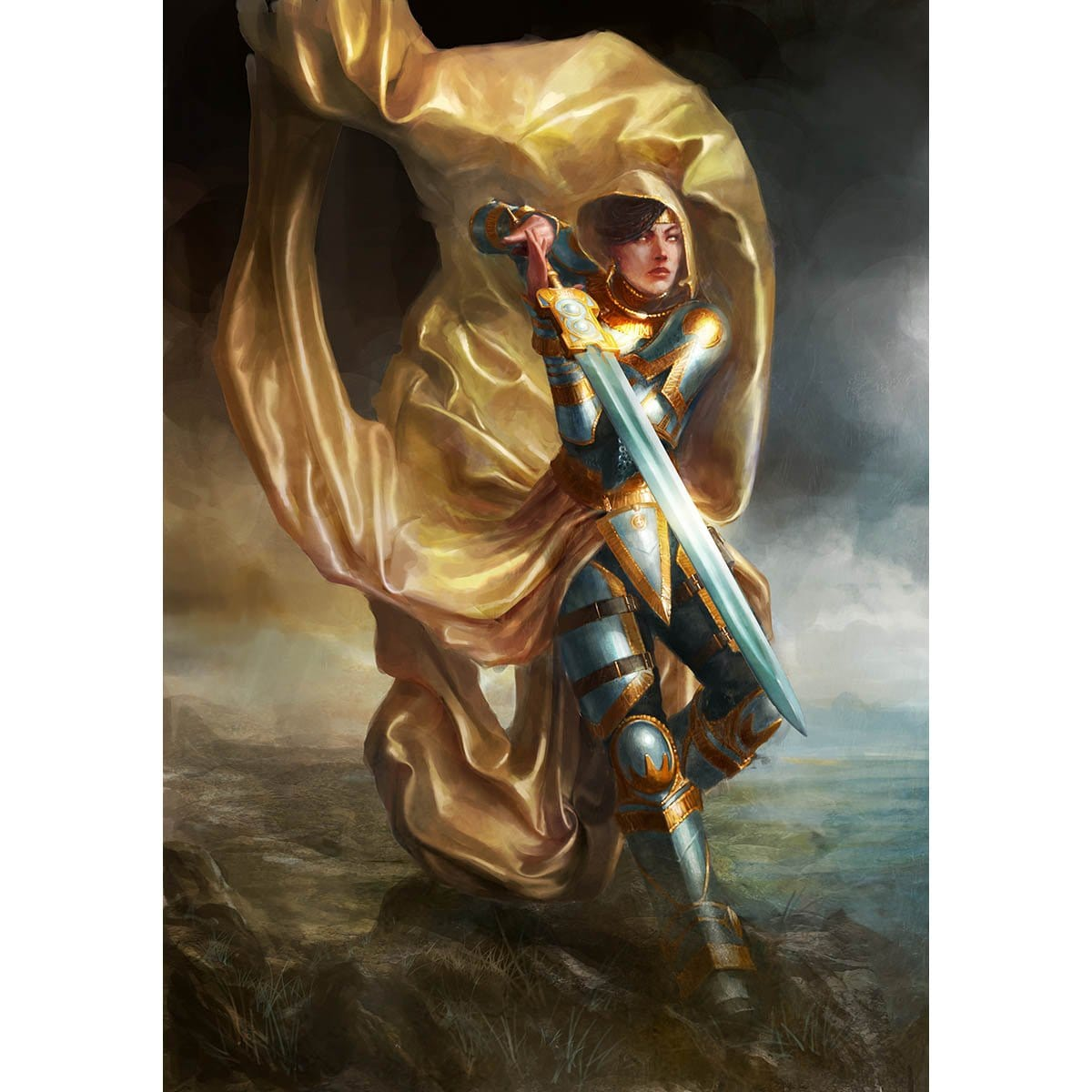 Elspeth, Knight-Errant Print - Print - Original Magic Art - Accessories for Magic the Gathering and other card games
