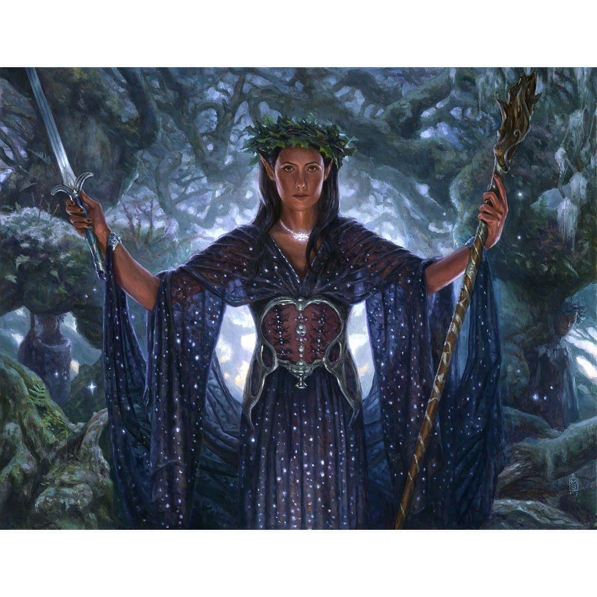 Elvish Clancaller Print - Print - Original Magic Art - Accessories for Magic the Gathering and other card games