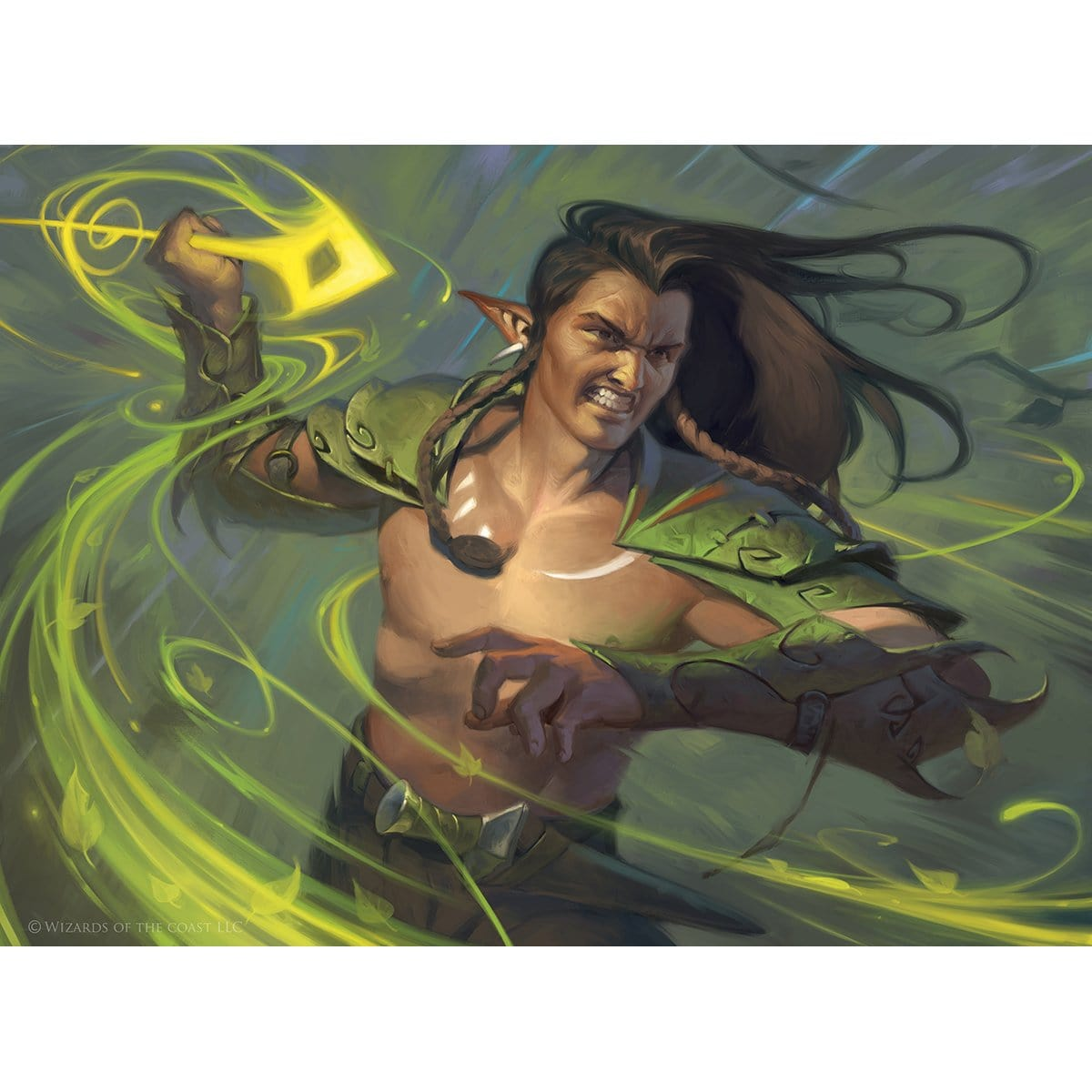 Elvish Reclaimer Print - Print - Original Magic Art - Accessories for Magic the Gathering and other card games